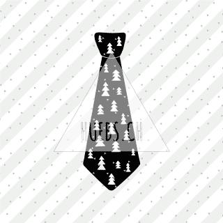 Plottermotiv - Krawatte mit Tannen