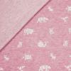 Bio Jaquard Jersey - Rosa meliert/ weiß mit Origami Tieren - Design von Huebs.ch