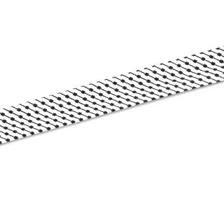 Schrägband - Weiß/Schwarz gemustert