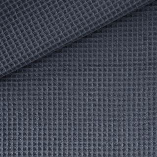 Waffelpique 2 - Dunkles Jeansblau