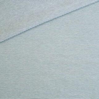 Single Jersey - Altmint / Weiß 1 mm gestreift