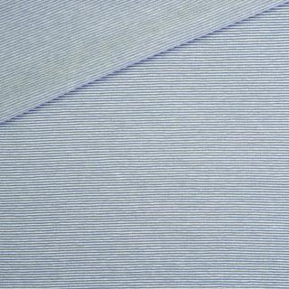 Single Jersey Dusty Zartblau Weiß 1mm gestreift