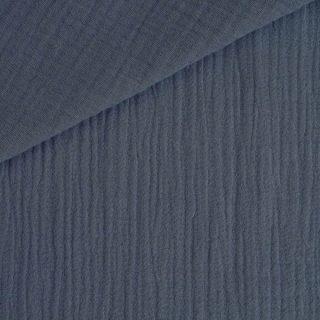 Musselin Dunkles Jeansblau