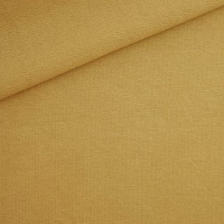 French Terry - dünner Sweatshirtstoff - Ockergelb