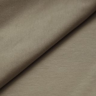 Single Jersey - Dunkles Smoky Beige
