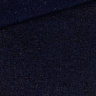 French Terry - leichter Kuschelsweat - Dunkelmarine - farbige Sprenkel