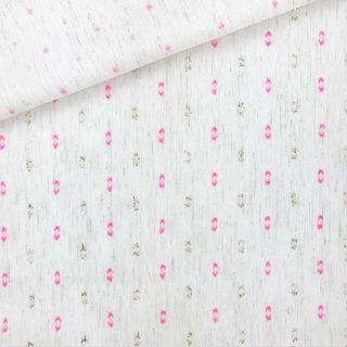 Viskosegemisch - Ecru meliert Glitter