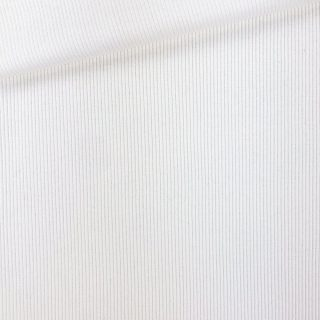Rippenjersey - Cremeweiß