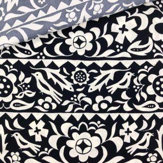 Viskose - Marineblau Folklore