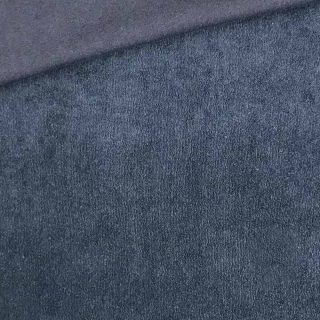 Frottee-Jersey - Smoky Jeansblau