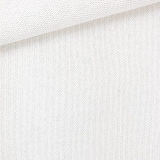 Baumwoll-Feinstrickstoff - Cremeweiß