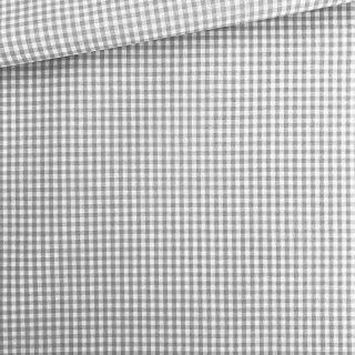 Baumwollstoff - Grau/ weiß 3 mm kariert