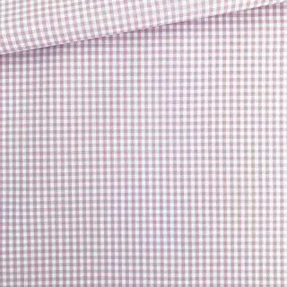 Baumwollstoff - Helles Flieder-Altrosa/ weiß 3 mm kariert