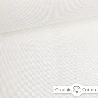 Bündchen gerippt - Cremeweiß - ORGANIC