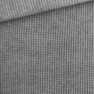 Grobstrickstoff - kuschelweich - Dunkles Mittelgrau meliert