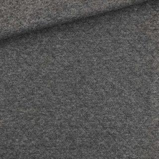 Stepp-Jersey - Baumwolle - Dunkelgrau meliert