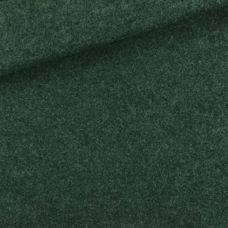 Walk - Wollstoff - Tannengrün meliert
