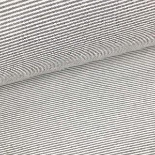 Bündchen - Grau/ Weiß 1 mm gestreift