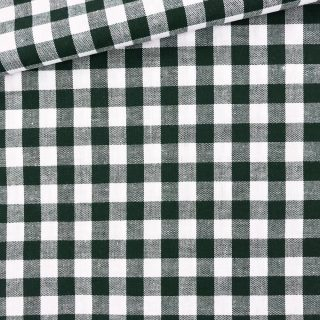 Baumwollstoff - Tannengrün/ weiß 9 mm kariert
