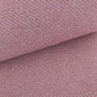 Bündchen - Fuchsia Beere 1 mm gestreift