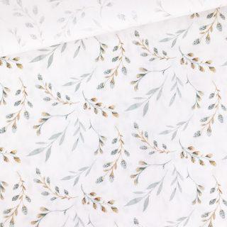 Popeline - Weidenkätzchen Cremeweiß