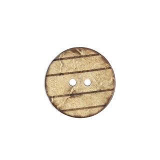 Kokosnussknopf Streifen - 22 mm - 2 Loch