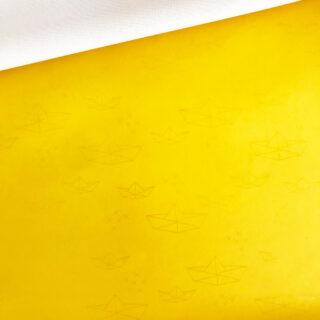 Regenjackensstoff - Boote Gelb