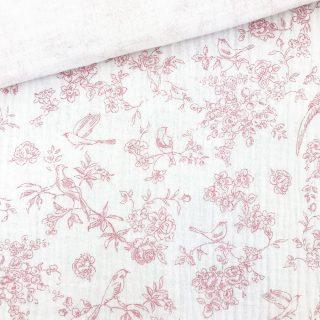 Musselin - Birdy Weiß