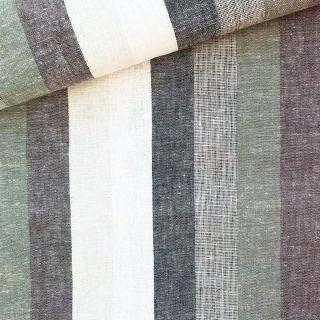 Viskose-Leinenmix - Beach Stripes Khaki