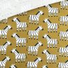 Bio Single Jersey - Zebras Senfgelb 2