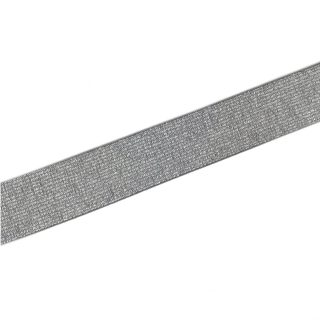 Gummiband Anthrazit Silber - 30 mm