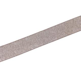 Gummiband Beige-Rose Silber - 30 mm