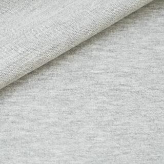 French Terry - dünner Sweatshirtstoff - Weißgrau meliert
