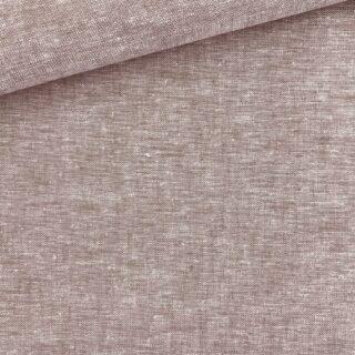 Leinen-Baumwollgemisch - Melange Braun