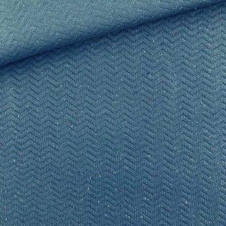 Chevron Stepp-Jersey - Smoky Jeansblau