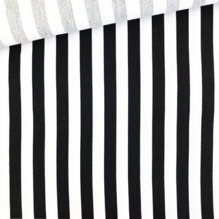 Köper-Baumwolle - Streifen Schwarz/Weiß