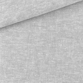 Leinen-Baumwollgemisch - Melange Helles Silbergrau