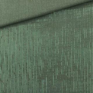 Musselin - Lurex Khaki Grün