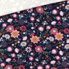 Single Jersey - Bohemian Flowers Dunkelblau