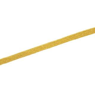 Baumwoll-Flachkordel 12 mm - Senfgelb