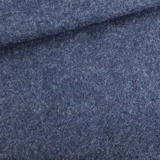 Walk - Wollstoff - Dunkles Jeansblau meliert