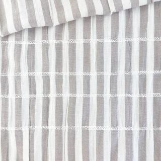 Baumwollgemisch - Crinkle Stripes Smoky Beige