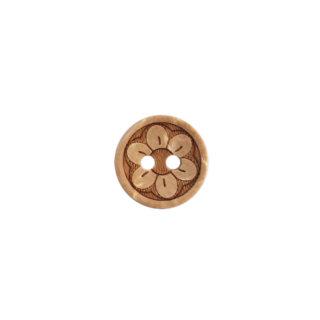 Kokosnussknopf hell - 13 mm - 2 Loch - Flower