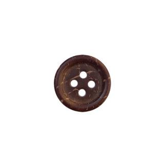 Kokosnussknopf mit Rand - 15 mm - 4 Loch