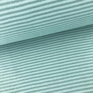 Bündchen - Altmintgrün 3 mm gestreift