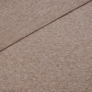 French Terry - dünner Sweatshirtstoff - Schokobraun meliert
