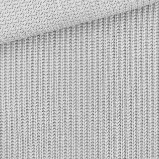 Baumwoll-Grobstrickstoff - Zartgrau