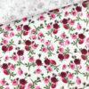 Musselin - Kleine Rosen Weiß