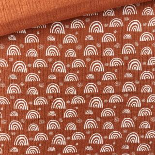 Musselin - Little Rainbows Rost-Orange