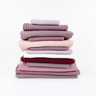 Waffelpique Paket - Rosa